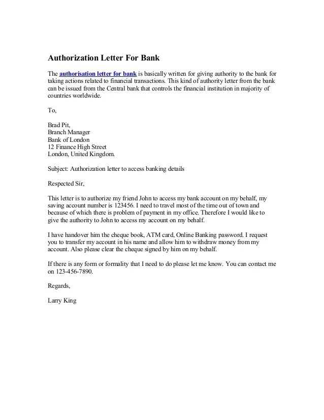 Professional Reference Letter Sample Belize Offshore Bank Authorization Letter For Bank