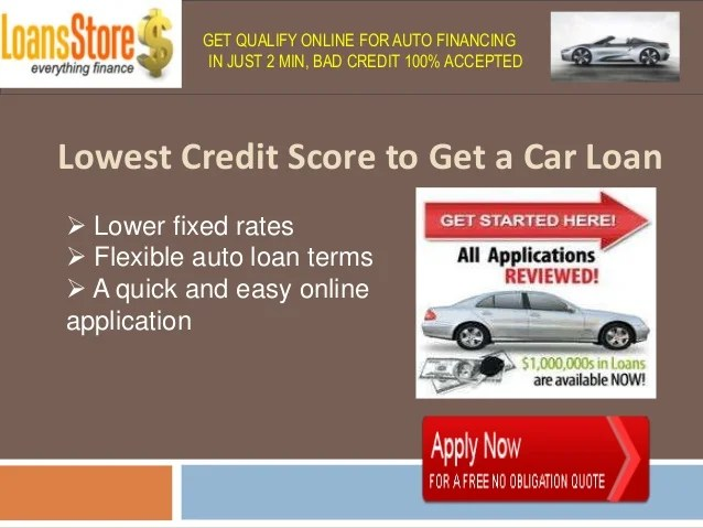 Auto Loans for Low Credit Scores