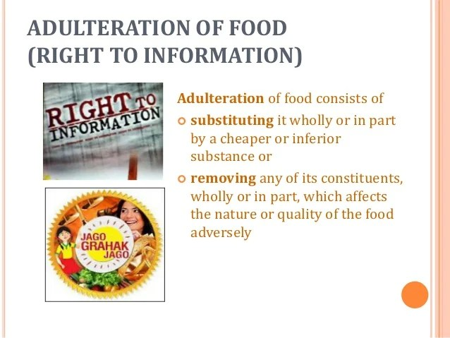 essay on food adulteration in india Food is adulterated to increase the quantity and make more profit the technical definition of food adulteration according to the food and safety standards authority of india (fssai.