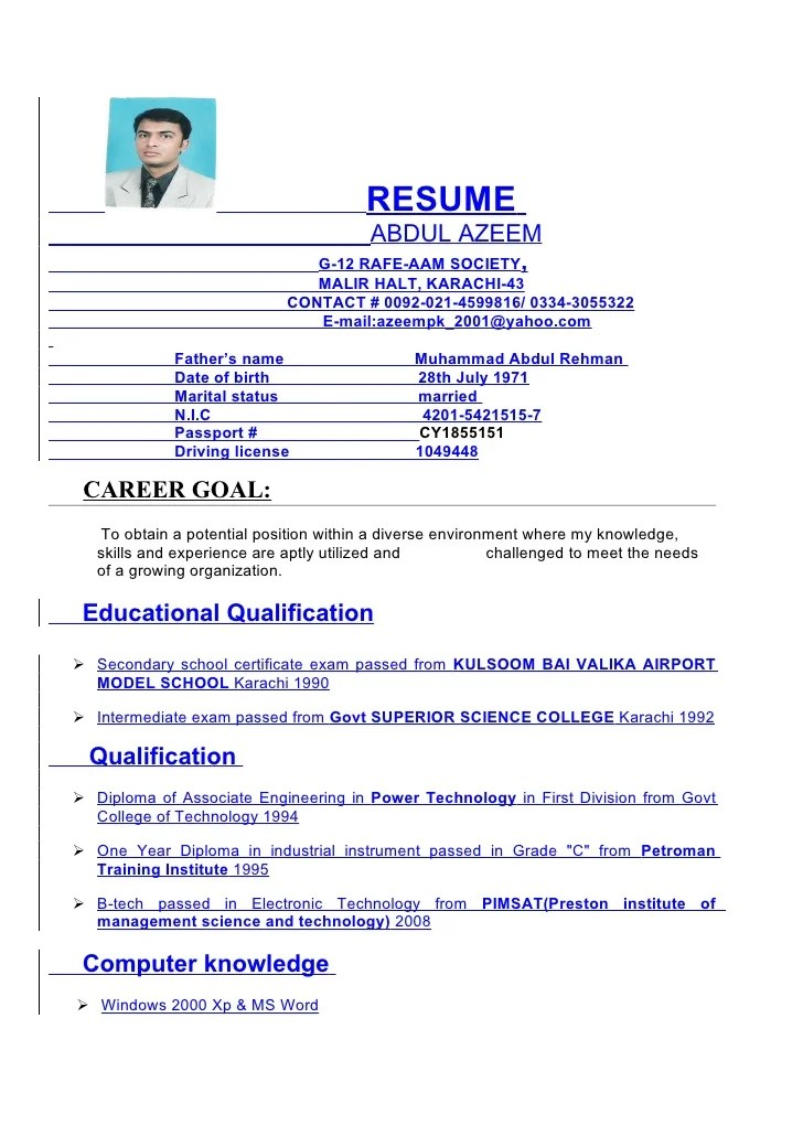 cv english driving license