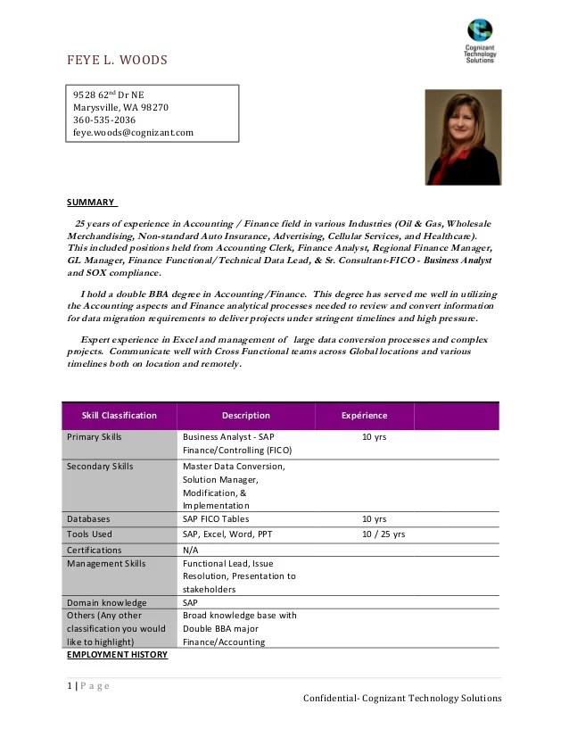 sap fico sample resume sap solution manager resume