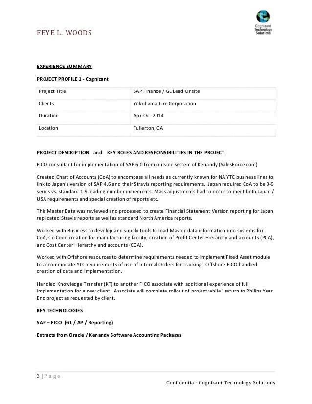 sap fi resumes - Selol-ink - sap fico sample resume