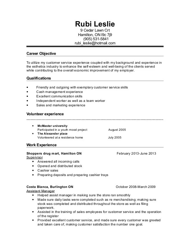 crt resume sample