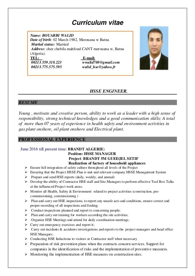 example career objective cv anglais