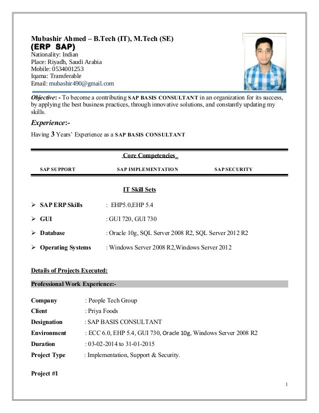 Sap Security Consultant Resume Samples 474091 SAP GRC Security