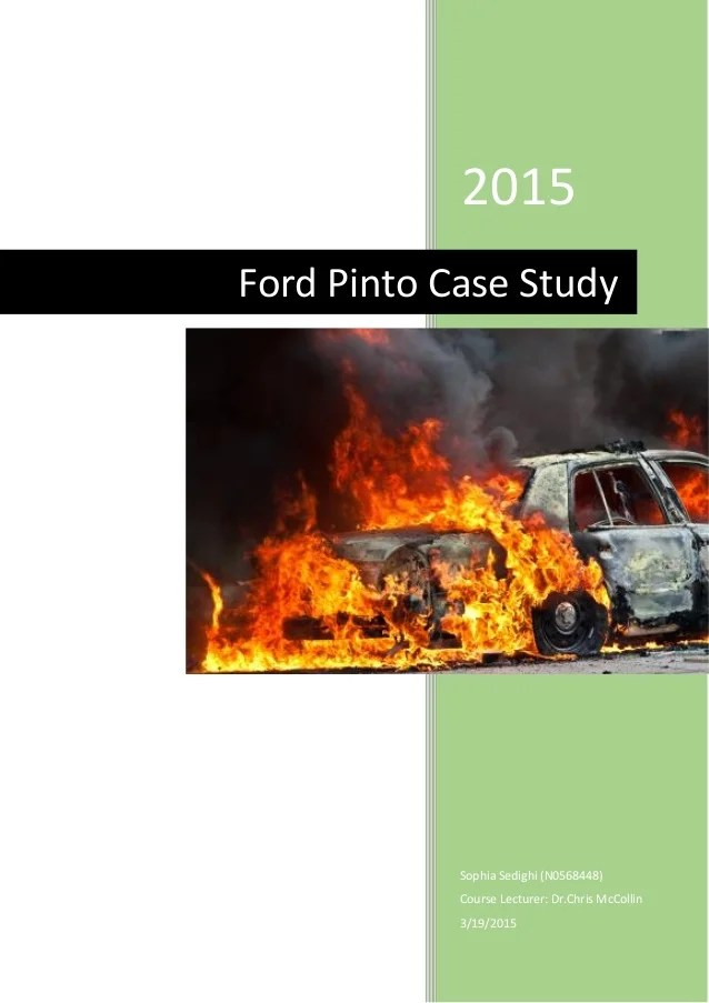 The Ford Pinto Case Suny Press Ford Pinto Case Study