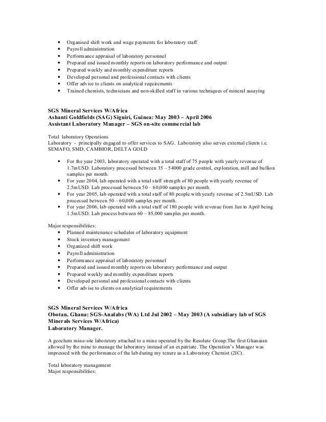 Laboratory Manager Resume Sample laboratory manager resume the best - lab manager resume