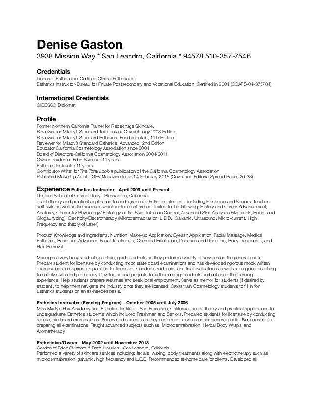 example of artist resumes