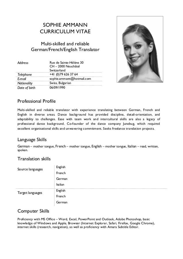 Resume Translation] Resume Translation Services Cvs Translated ...