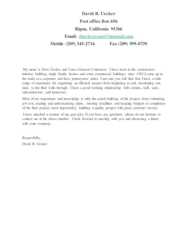 general contractor resume - Intoanysearch - contractor resume