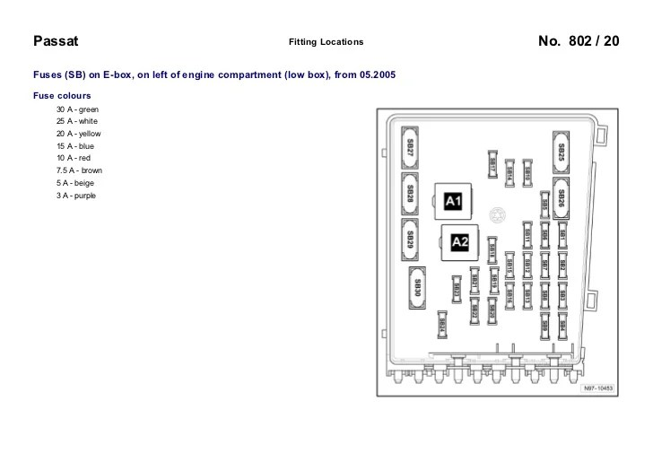 2005 vw passat fuse diagram