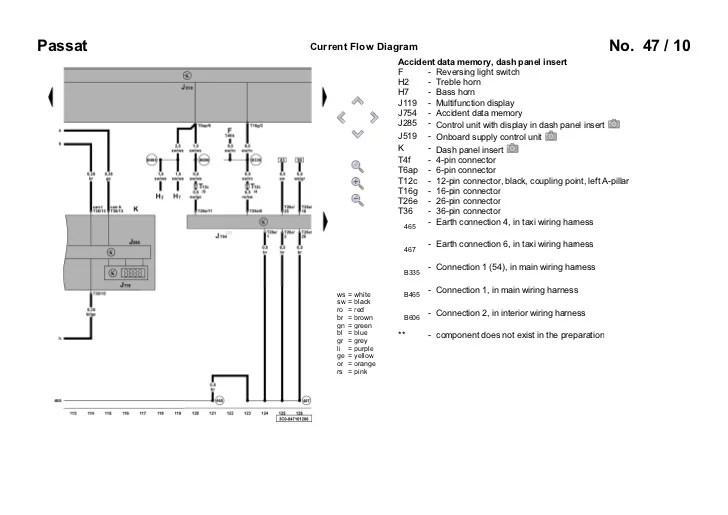 electrical diagram passat b5