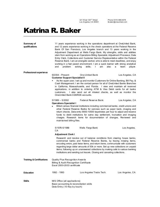 baker resume - Canasbergdorfbib