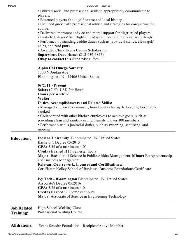 federal resume templates word resume templates 2016 standard resume format 2016 federal resume template logistics federal - Federal Resume Format