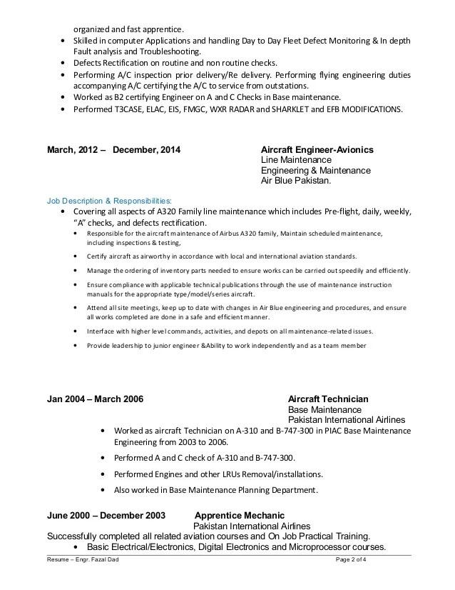 fleet engineer resume