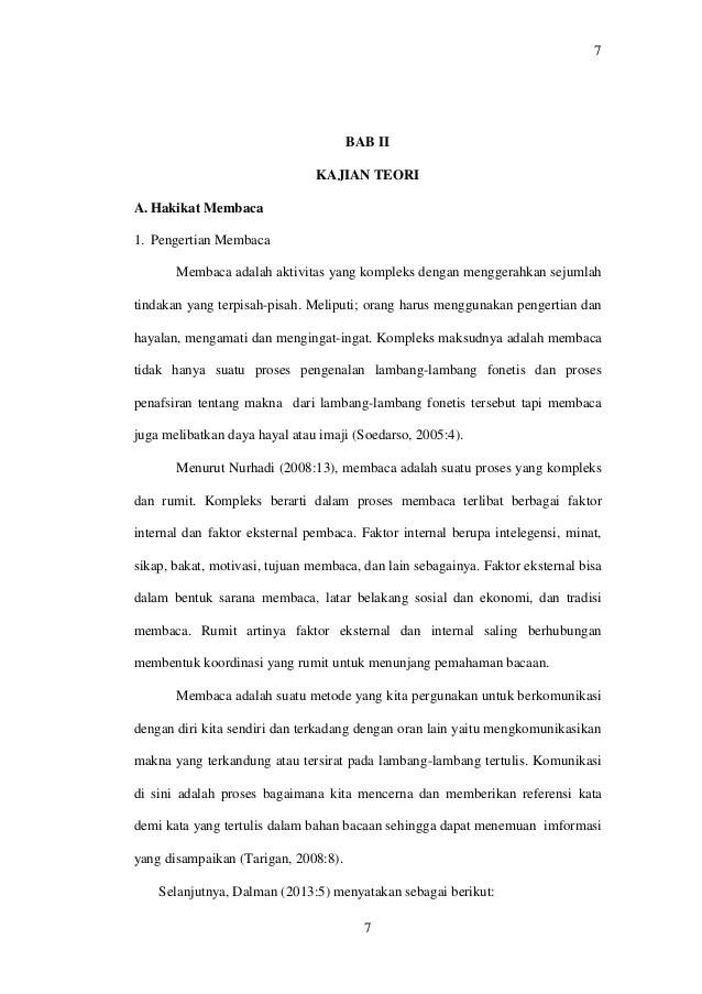 Proposal Kemampuan Membaca Pemahaman Contoh Proposal Meningkatkan Kemampuan Membaca Siswa 77bab Iikajian Teoria Hakikat Membaca1 Pengertian Membacamembaca