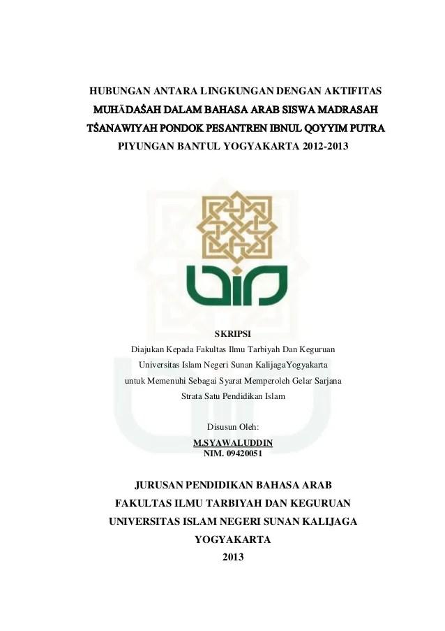 Contoh Proposal Bahasa Arab Contoh Proposal Kajian Tindakan Faizal Sulaiman Skripsi Bahasa Arab