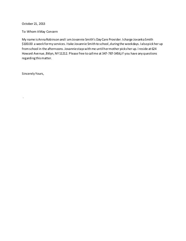 recommendation letter for caregiver. personal reference letter for ...