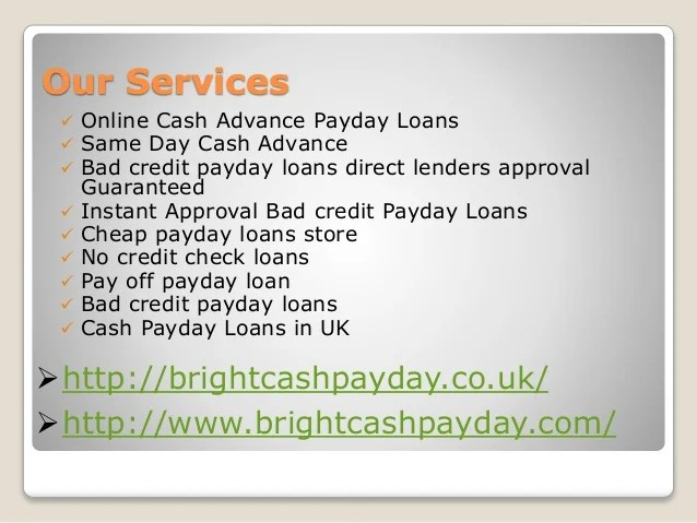 No Credit Check Payday Loans Online Direct Lenders