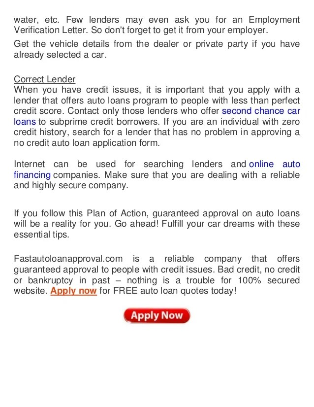 How to Ensure Guaranteed Auto Loan Approval with Credit Issues?