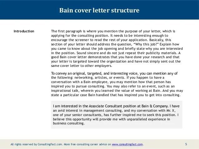 Cover Letter Samples Resumes Letters Resources Monsterca Bain Cover Letter Sample