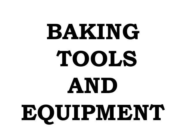 Bread and pastry production baking tools and equipment