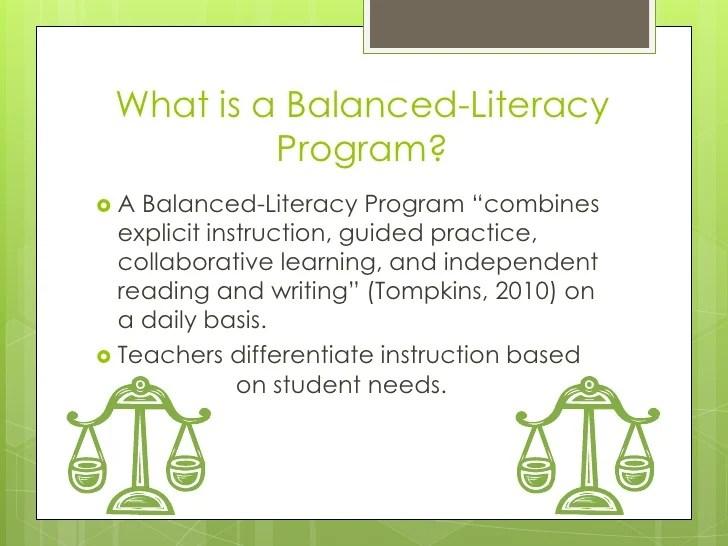 Balanced Literacy Reading Program