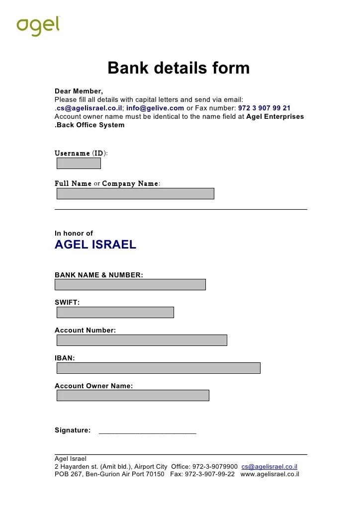 Application Letter Samples Business Letter Samples Bank Details Form