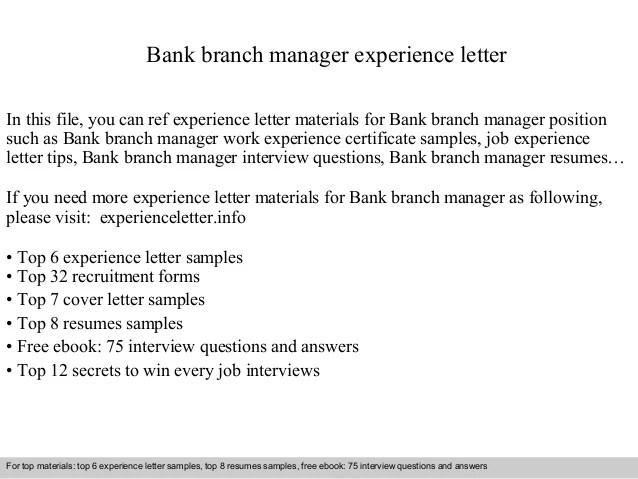 sample cover letter for manager position - Alannoscrapleftbehind - branch manager sample resume