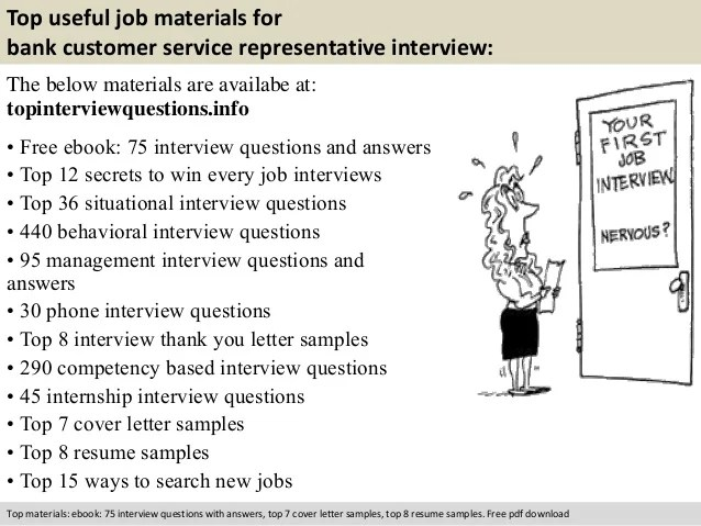 resume samples for bank customer service representative