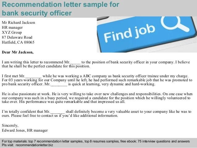 security guard recommendation letter sample - Onwebioinnovate