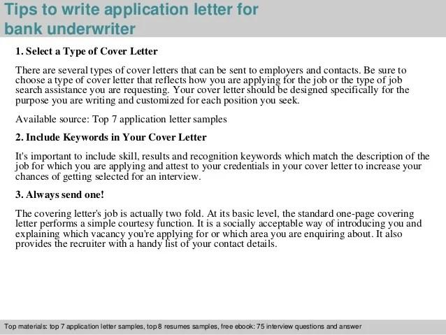 underwriter cover letter sample - Apmayssconstruction