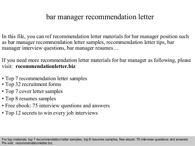 bar recommendation letter - Thevillas