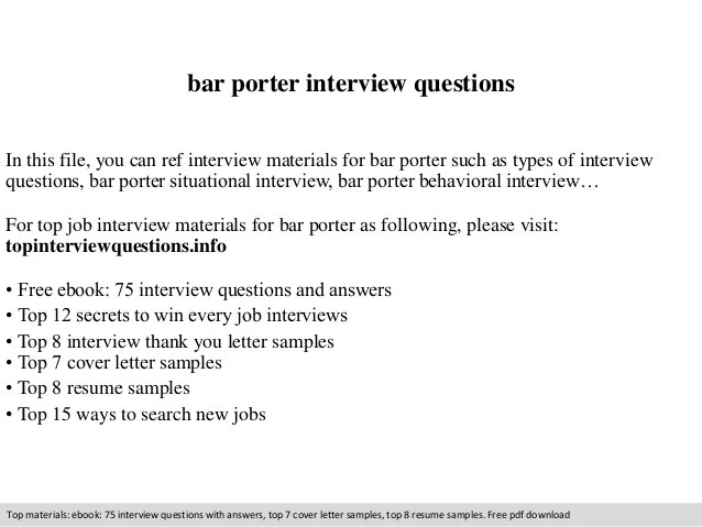 porter job description for resume - Onwebioinnovate