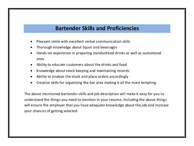 bartender resume example chef resume sample job resume layout free ...