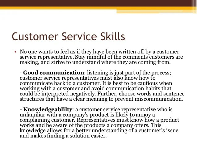 customer service skills - Yelomdigitalsite