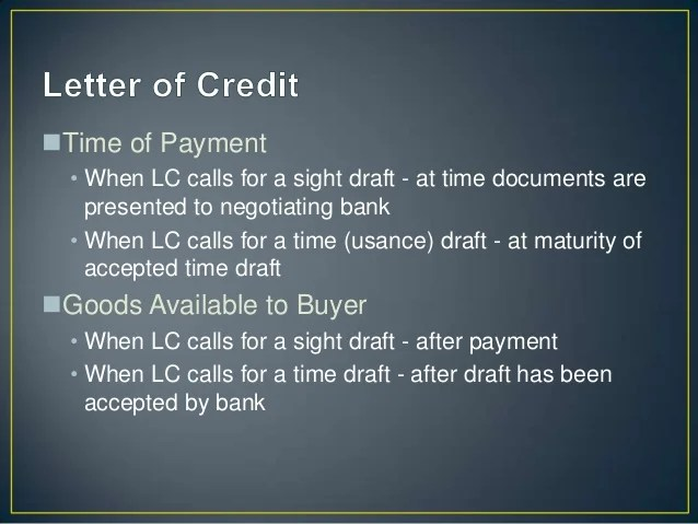 The Mechanism Of Letter Of Credit Uob Basics Of Exim