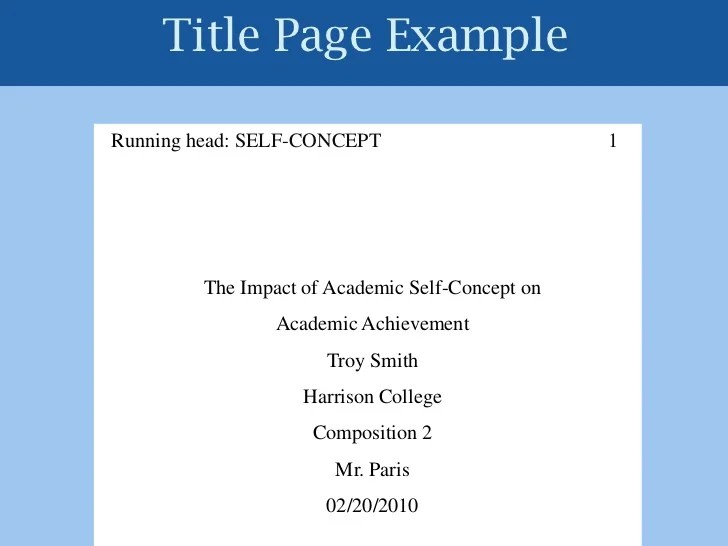 how to make a title page apa format - Hizlirapidlaunch