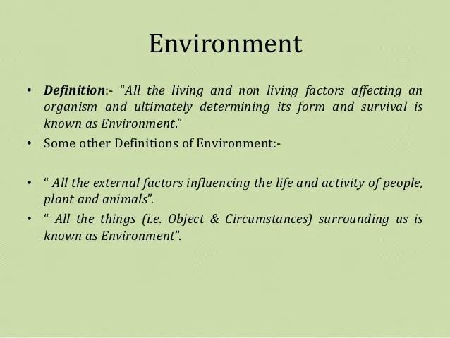 Basics of Environmental Studies