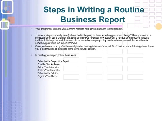 basics of writing a resume basics reports writing question 8 steps in writing a routine