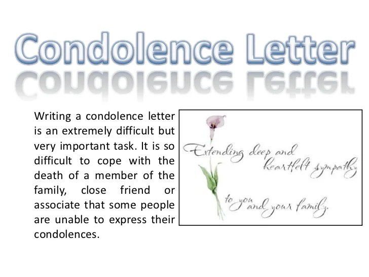 how to write a condolence letter - Divingthexperience