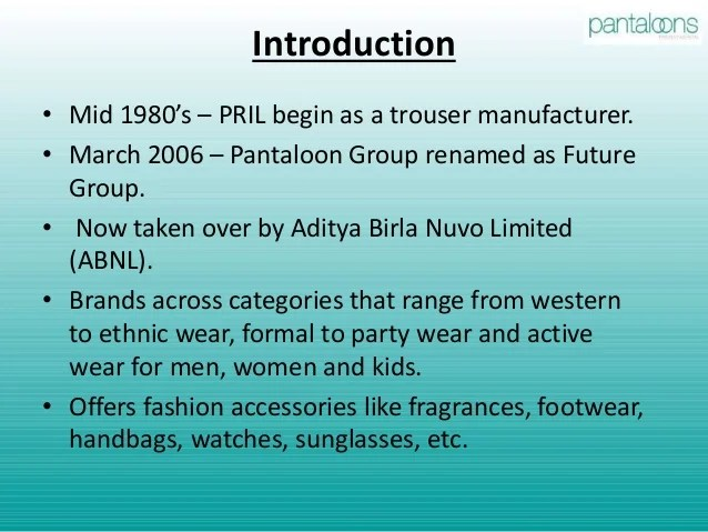 Future Business Trends in Retail (Pantaloons)