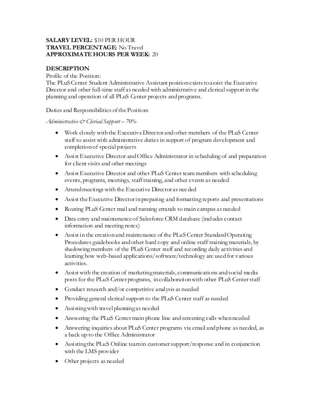 Administrative Assistant Job Duties - sarahepps - - administrative assistant job description