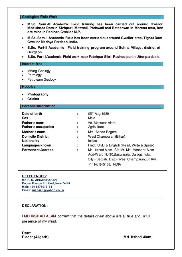 Geologist resume  Registered-forward