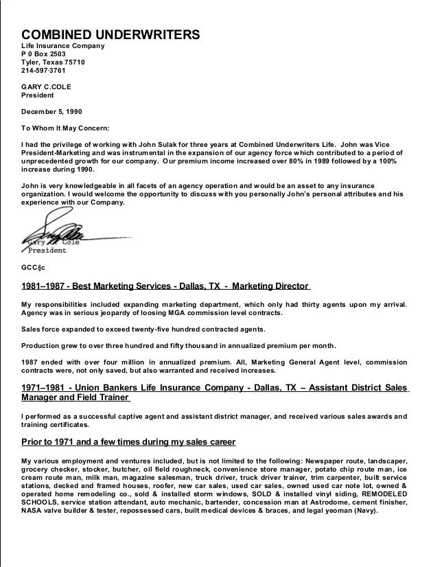 insurance company resumes - Josemulinohouse - Union Business Agent Sample Resume