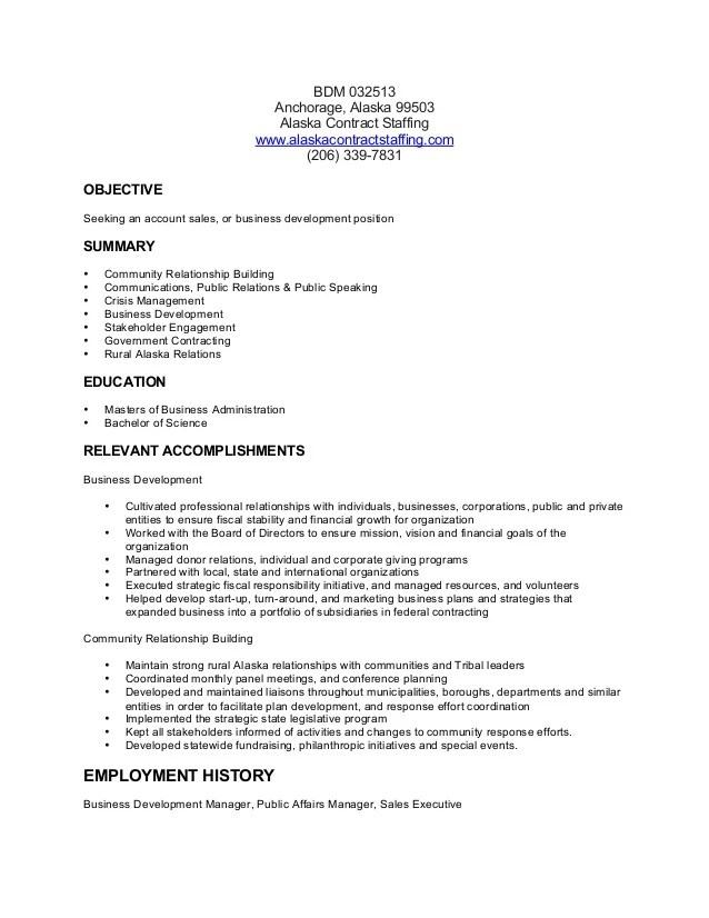 resumes business development manager cv template - Josemulinohouse