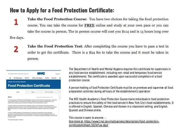 Nyc Food Protection Course Online Free | Foodstutorial.org