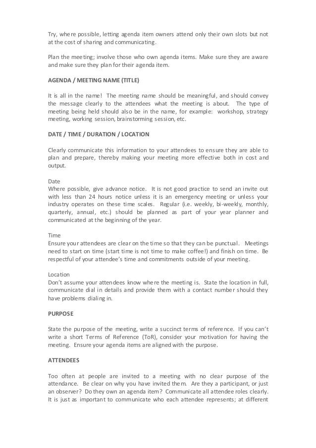creating an agenda for a meeting - Pinarkubkireklamowe