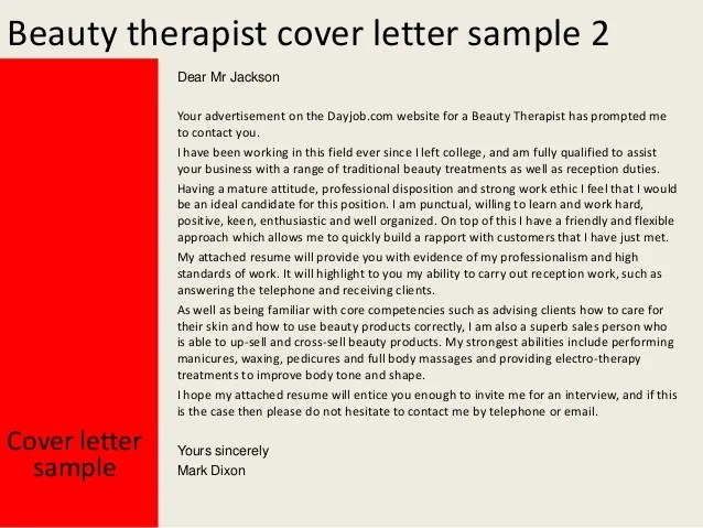 Sample Cover Letter Massage Therapist – Massage Therapist Cover Letter Samples