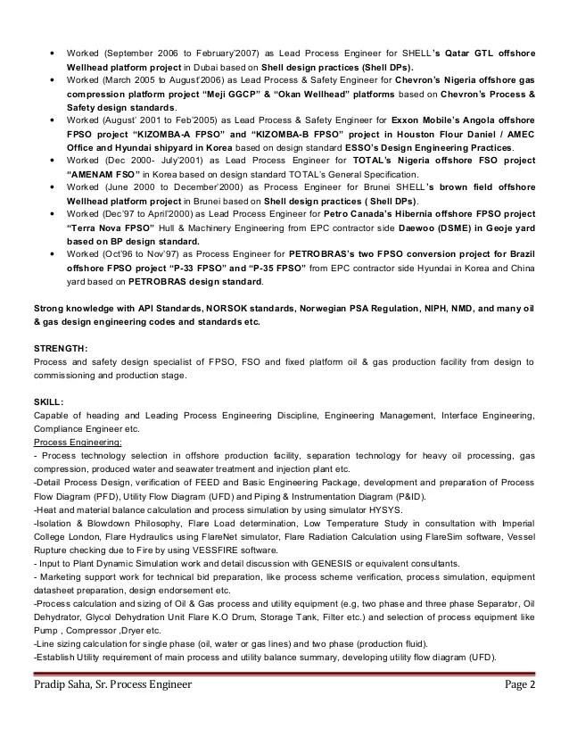 sample resume for process engineer - Onwebioinnovate